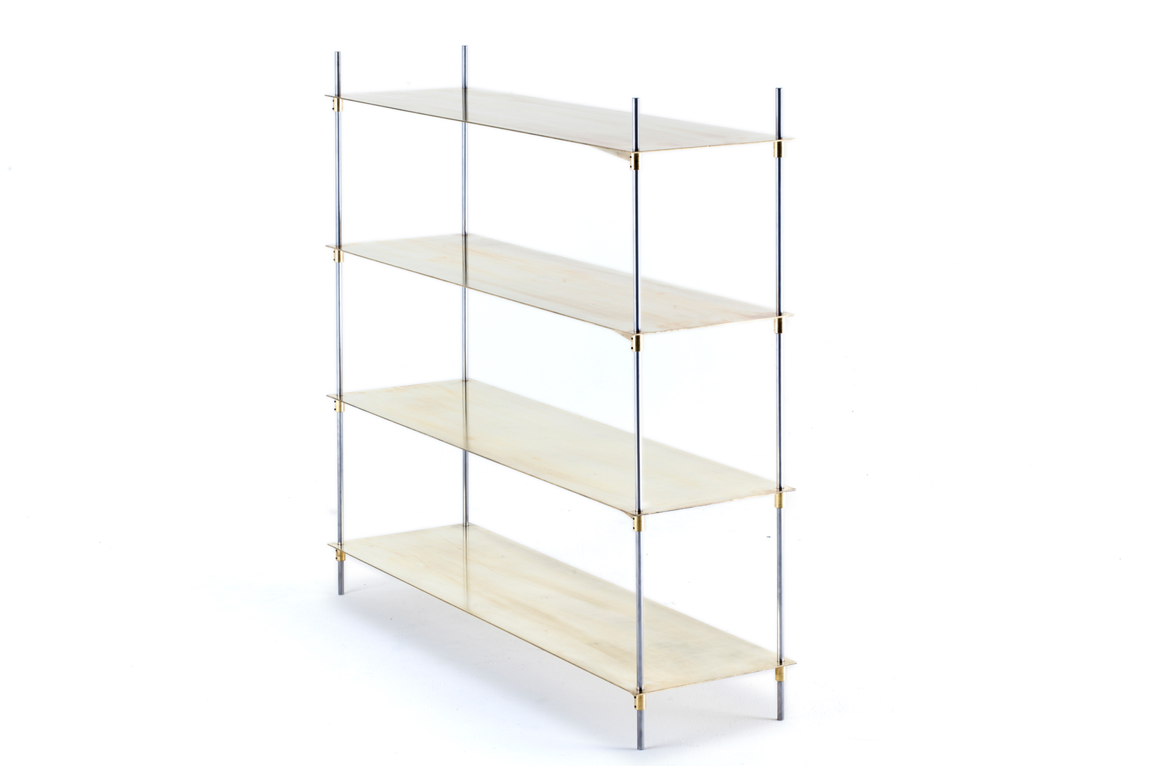 Boss System custom brass shelves