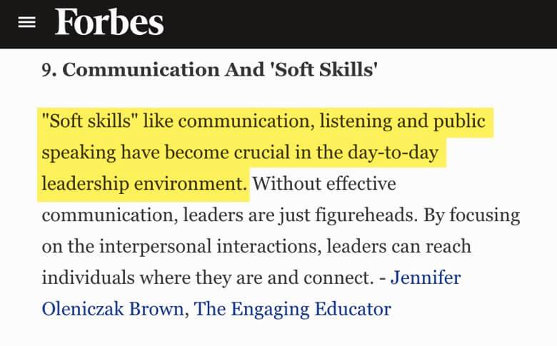 Habilidades importantes para ser un buen líder segun Forbes