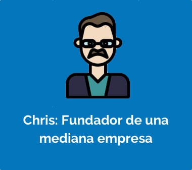 Chris: Fundador de una mediana empresa