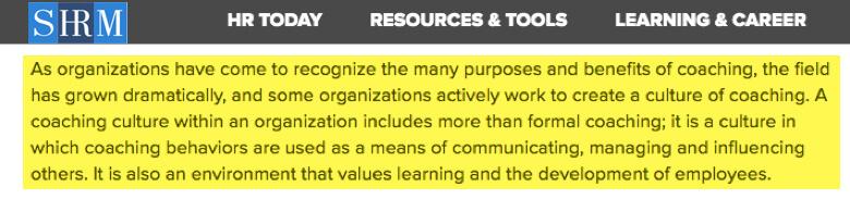 Empresas estan trabajando para cultivar un ambiente de coaching