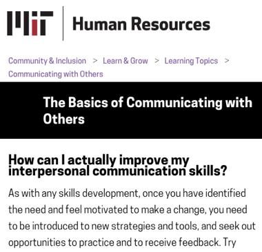 Mejorando sus habilidades de comunicación según la universidad de MIT