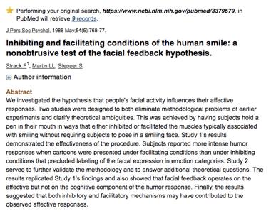 Un estudio sobre la sonrisa por PubMed