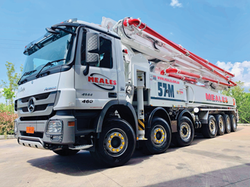 meales concrete pumping truck mounted concrete pump for hire