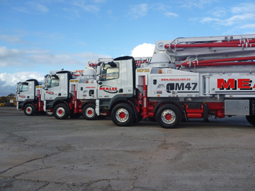 concrete pumping dry hire