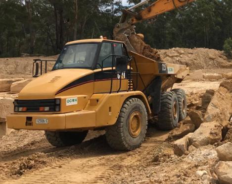 OCON Services Dump Truck Dumping