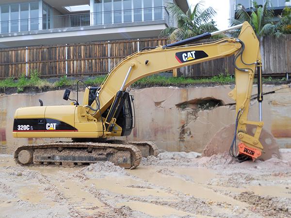 rocksawing mosman wirth excavator
