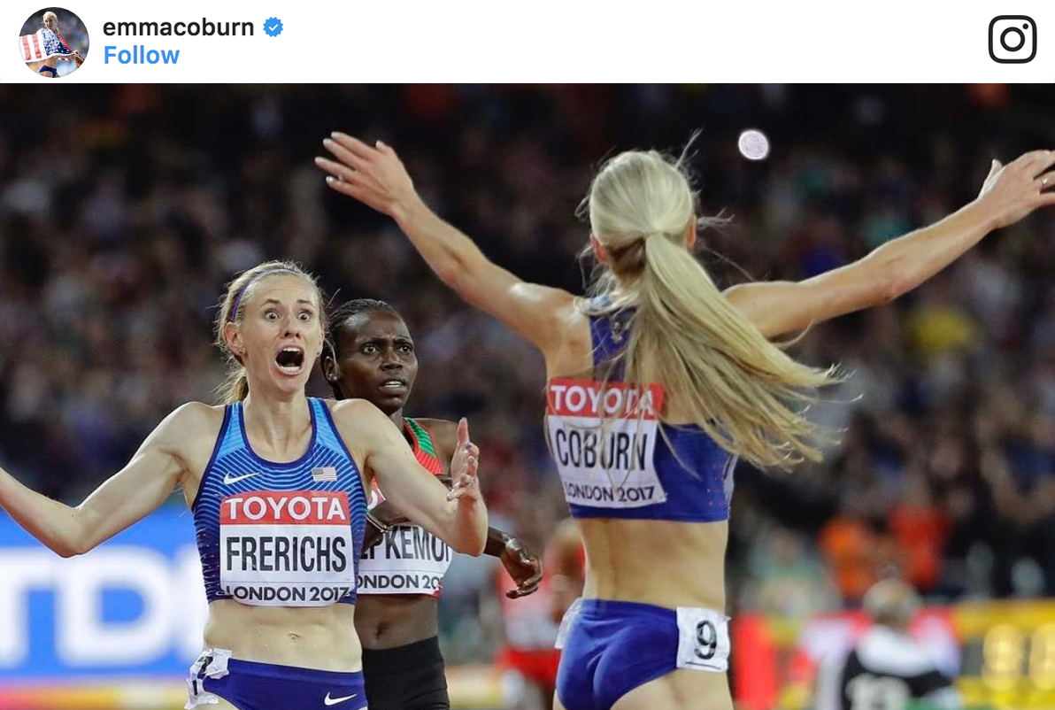 emma coburn and courtney frerichs steeplechase
