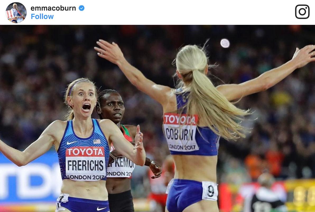 emma coburn and courtney frerichs steeplechase