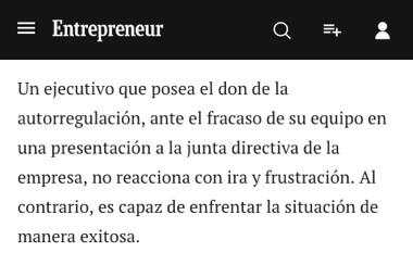 entrepreneur - con la autorregulación puedes enfrentar las situaciónes de manera exitosa