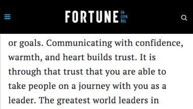 revista fortune - es a través de confianza puede llevar a las personas en un viaje con usted como líder