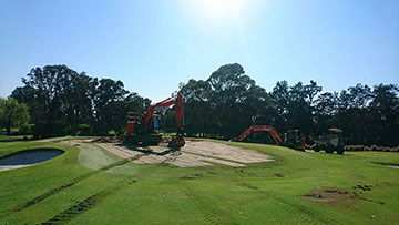 golf-course-excavator-hire