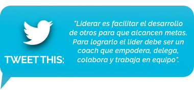 tweet - liderar es facilitar el desarrollo de otros para que alcancen metas