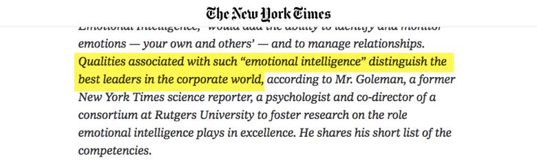 habilidades gerenciales - new york times inteligencia emocional diferencia los mejores líderes en el mundo corporativo