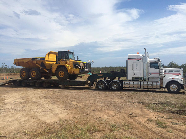 Hawe Earthmoving-Projects-Truck&Dog Bundaberg