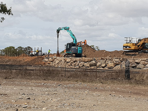 hawe-earthmoving-projects-Boulder-Wall-completed-at-Belle-Edan-Stage-2G-bundaberg