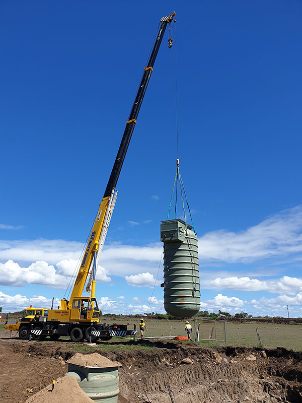 hawe-earthmoving-projects-Installation-of-pre-fabricated-sewer-pump-station-st-Ocean-Heights-Elliott-Heads-bundaberg
