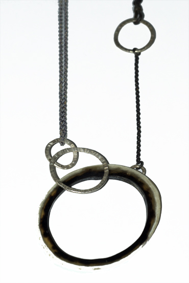 Australian cattle horn and sterling silver neckpiece by Robyn Wernicke.