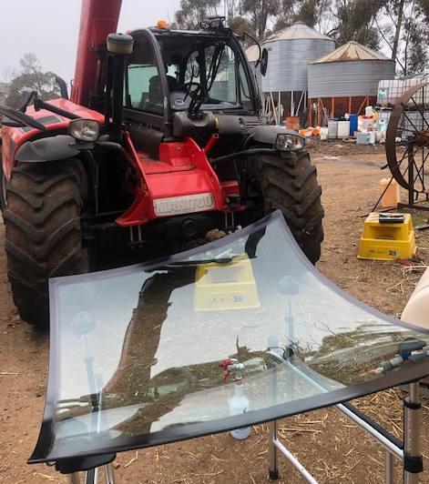 Telehandler glass replacement