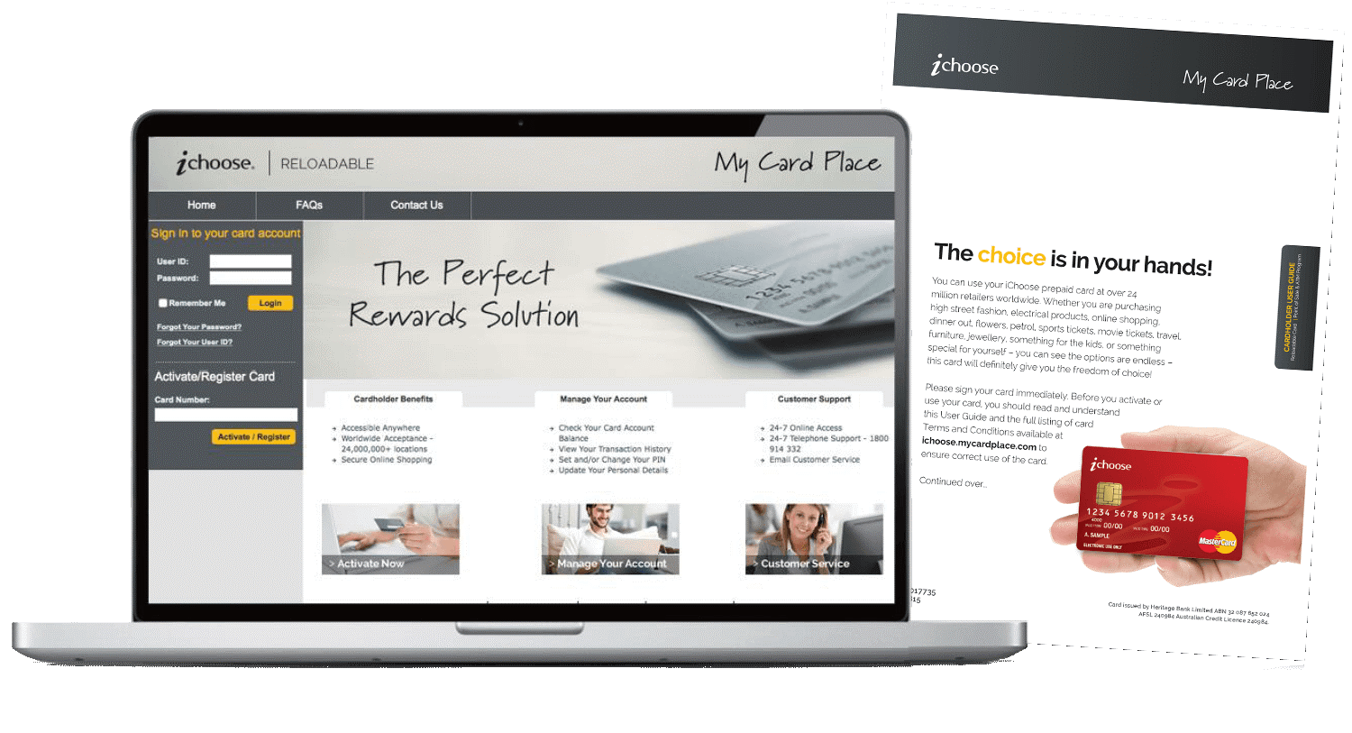 ichoose visa card. The perfect rewards solution