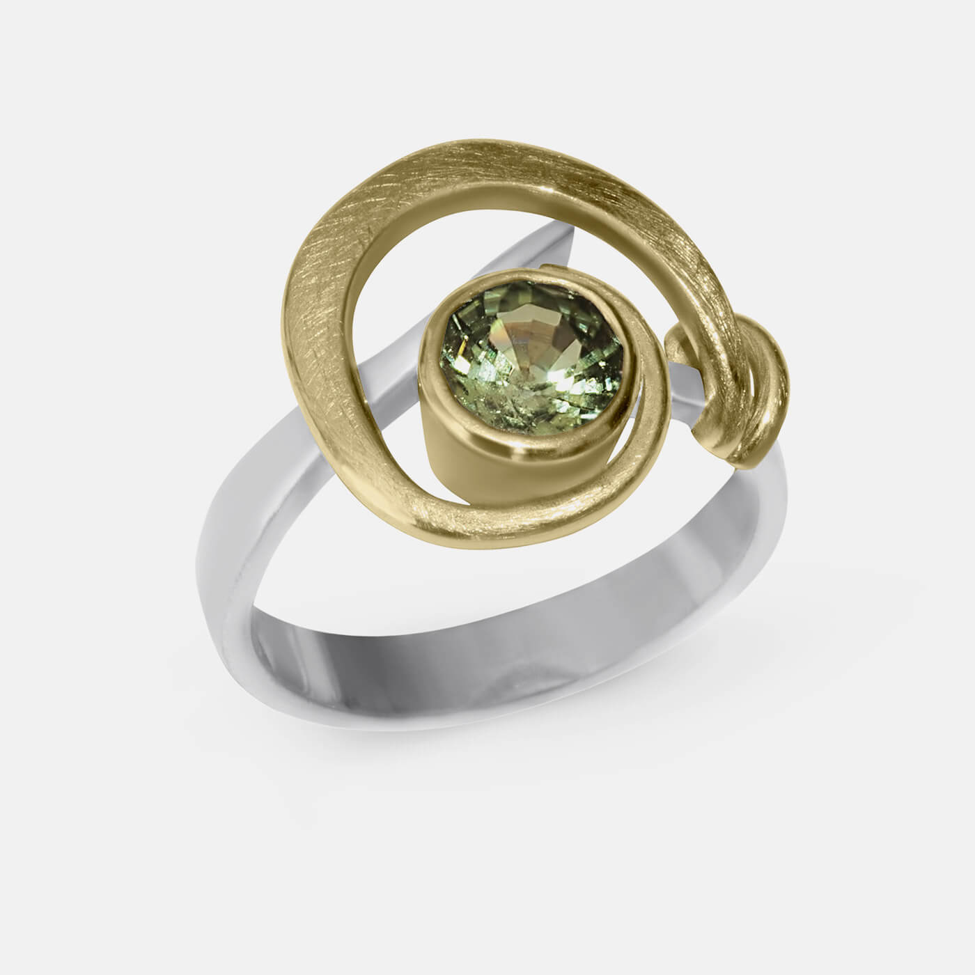 Swirl in Green Dress Ring