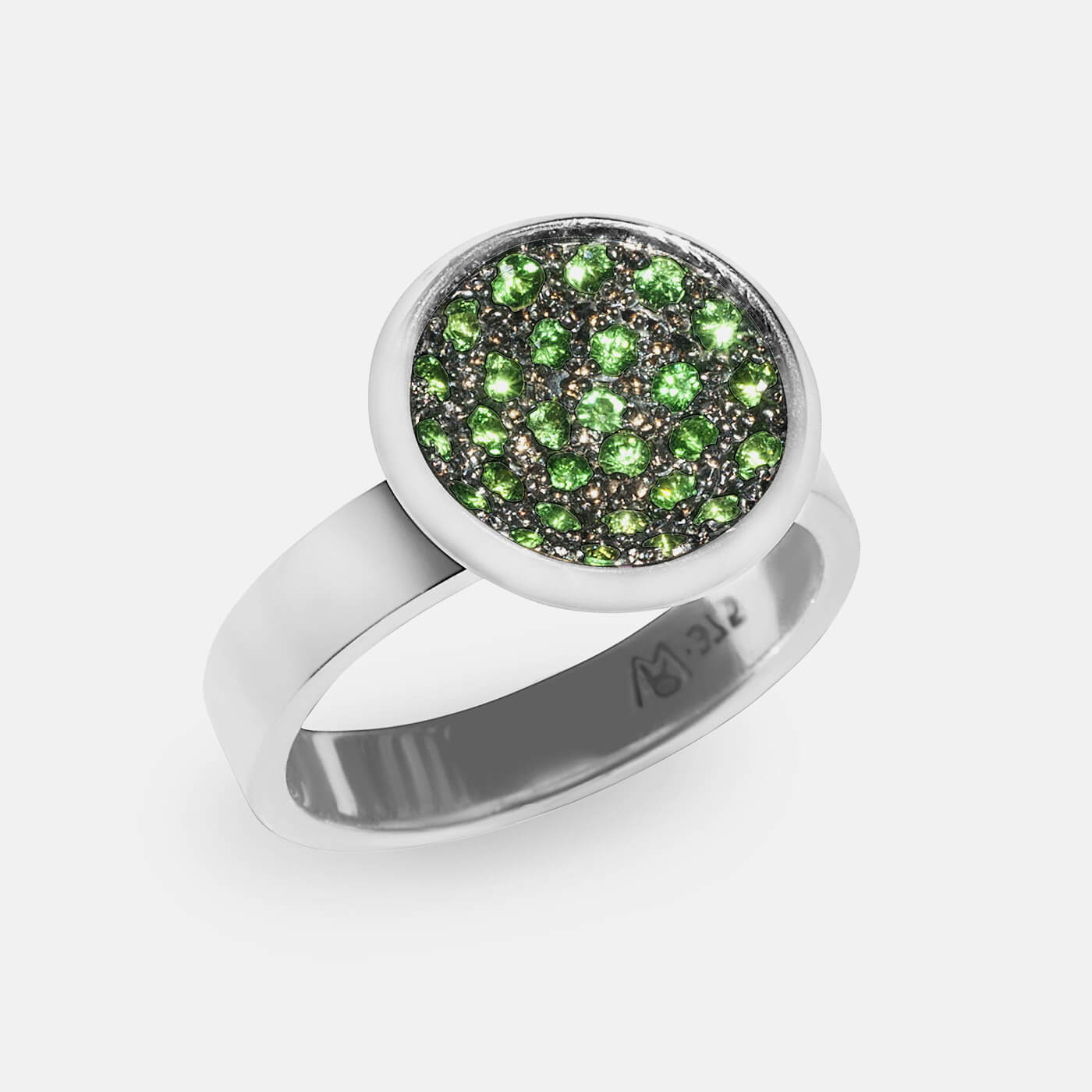 Dreaming in Green Engagement Ring