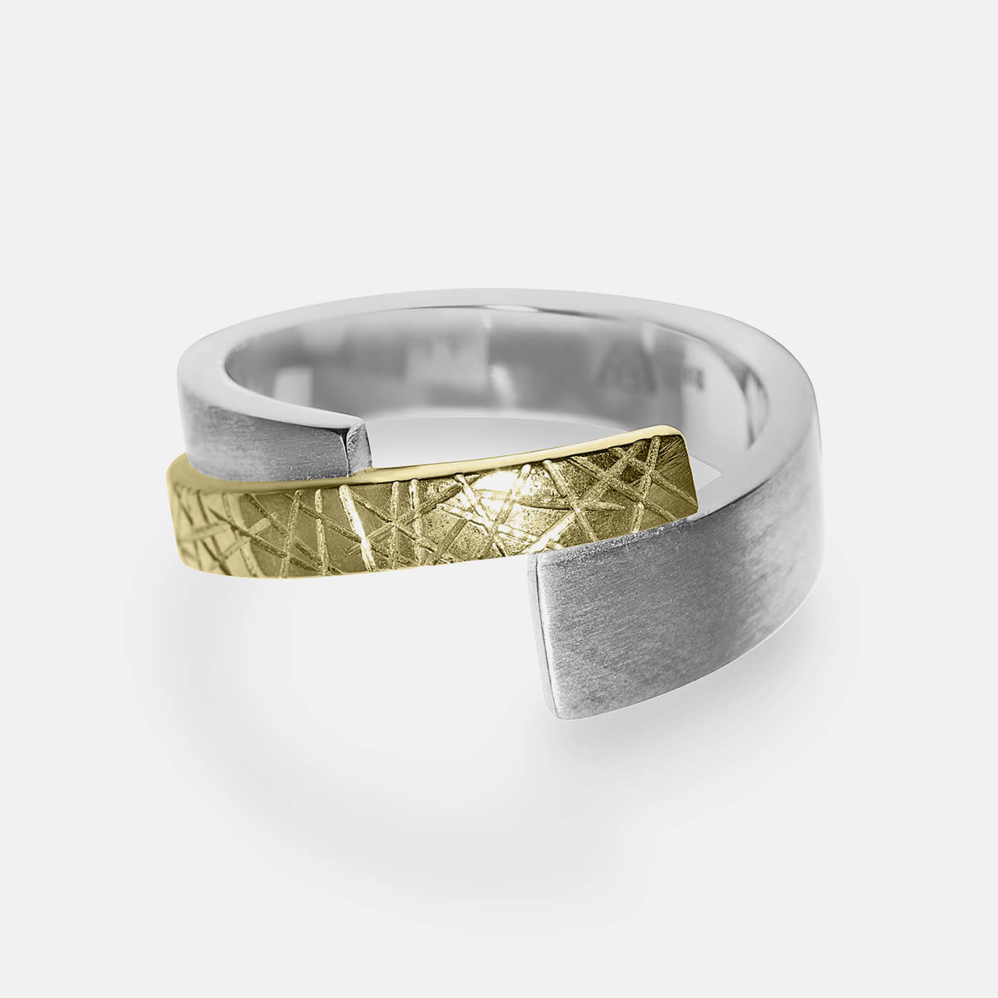 Merge and Cross Engagement Ring