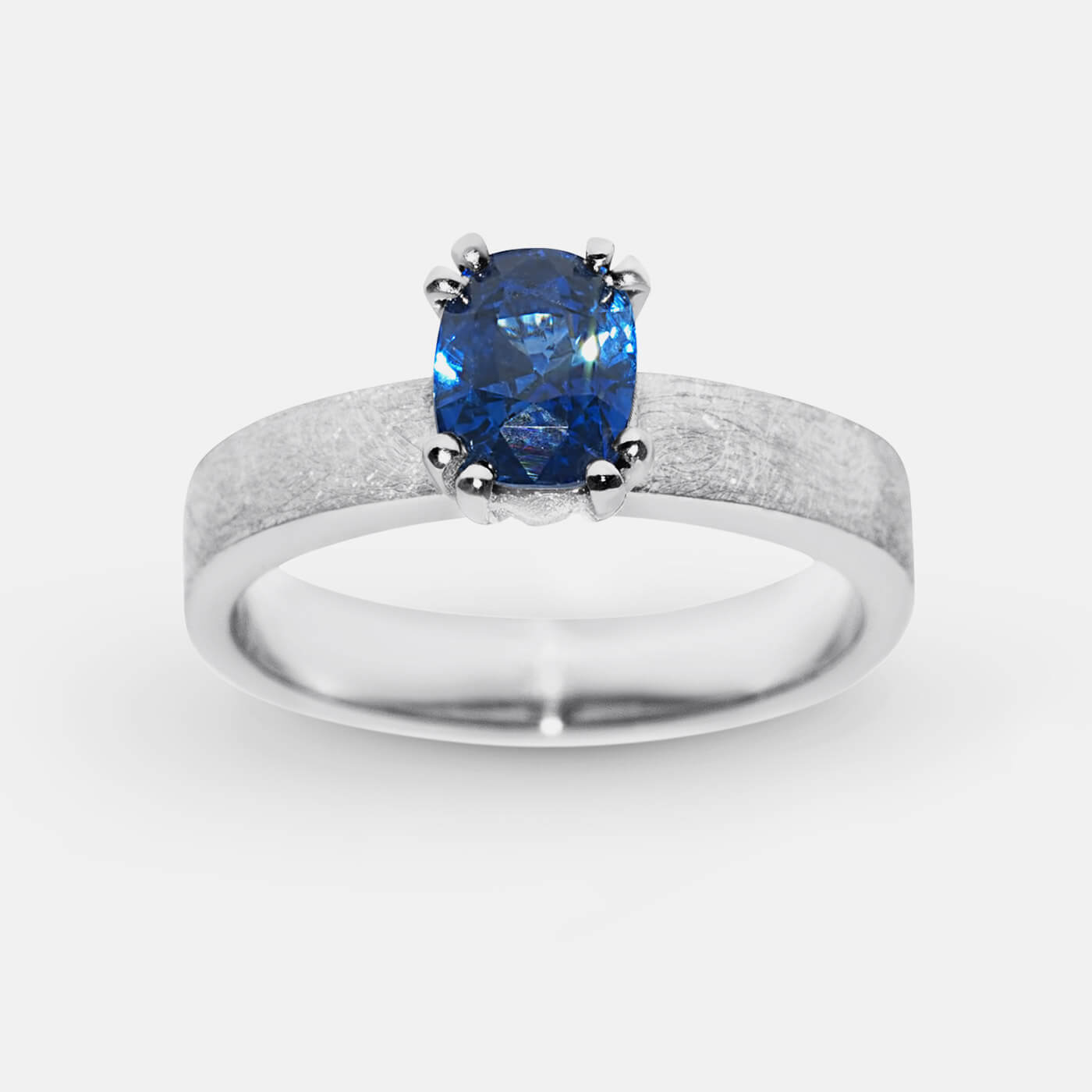 Ceylon Sapphire Solitaire Engagement Ring