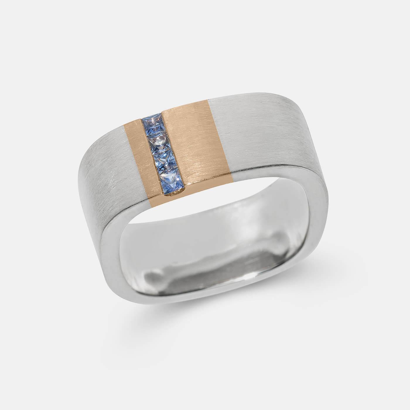 Sapphire Line Wedding Ring