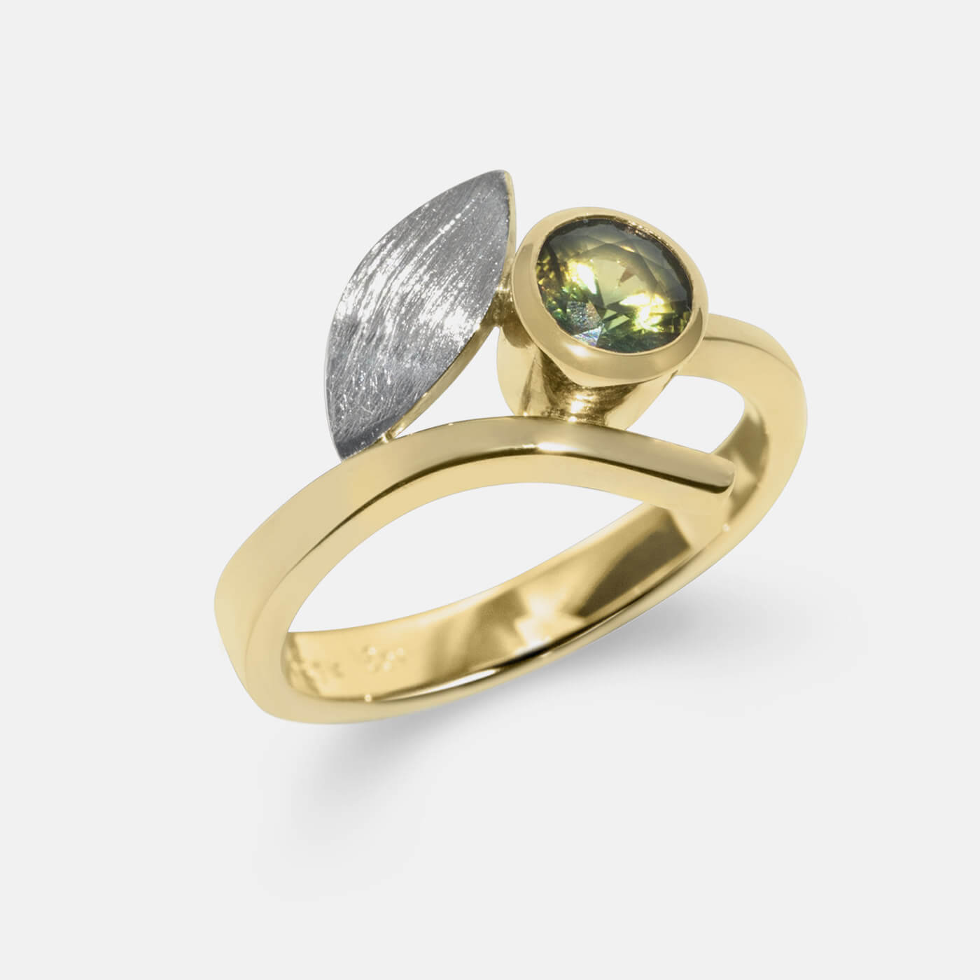 Stylised Leaf Wedding Ring