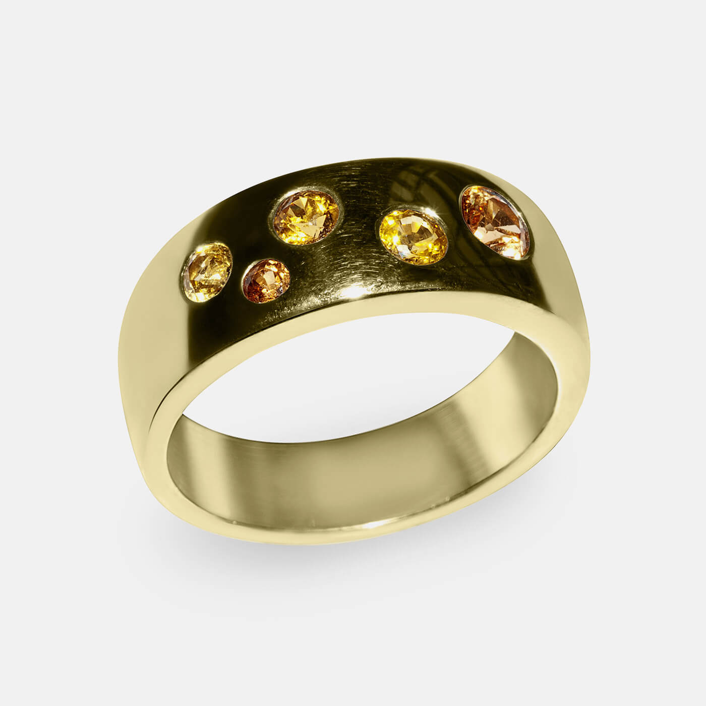 Golden Hues Wedding Ring