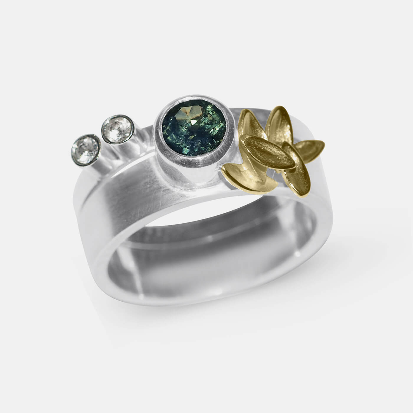 Foliage with Alexandrite Wedding Ring