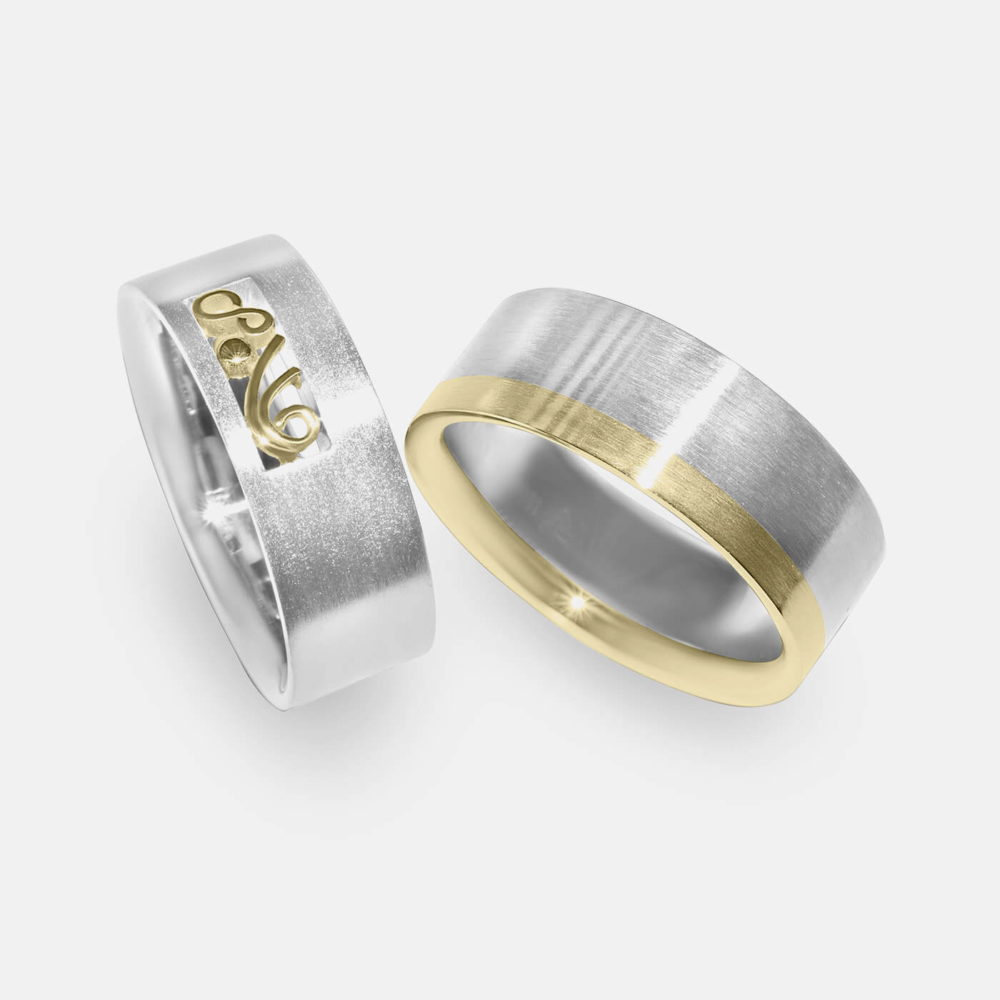 Paired Two Wedding Ring