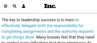 inc - delegar es la calve para un liderazgo efectivo