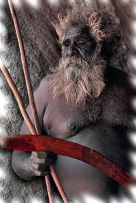 Koori Man with boomerang
