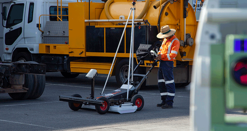 Latro™ is an Australian push-cart subsurface reality capture solution.