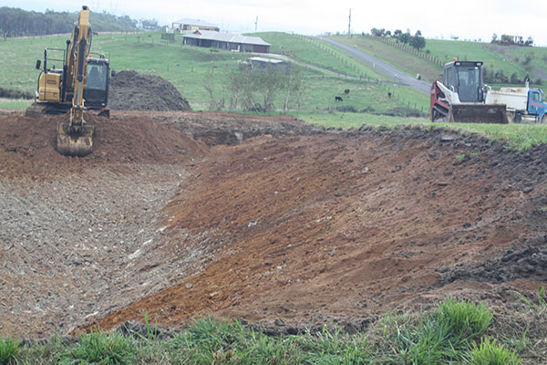 Latrobe Excavations Horse Manege and Arena Construction with Tipper Truck and Excavator