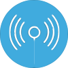 Amayaco emprendedor residente con icono de señal wifi