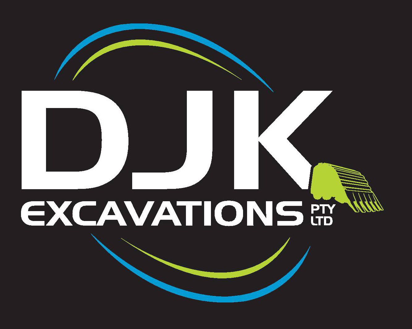 DJK Excavations Logo