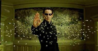 Neo parando bolas con su mente