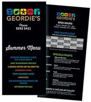 Geordie's Restaurant summer menu