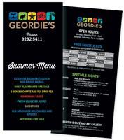 Geordie's Restaurant summer menu