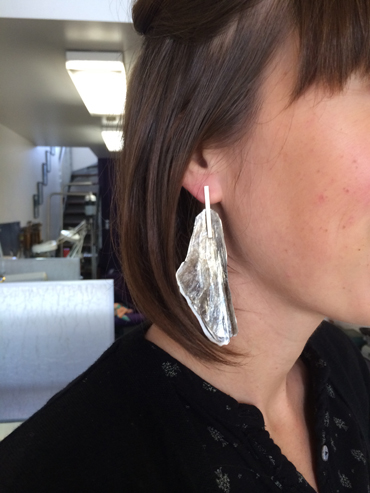 Mica, silver and 9ct gold by Robyn Wernicke.