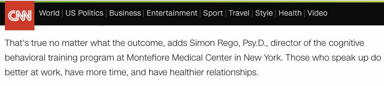 Los quien habla en trabajo tiene mas tiempo y relaciones mas saludables según Simon Rego en CNN