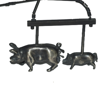 Little pig, big pig in silver by Robyn Wernicke.