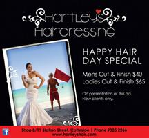 Hartley's Hairdressing print advertisement