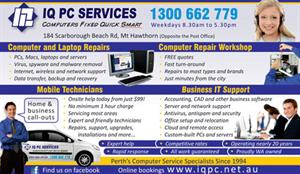 IQ PC Services print advertisement