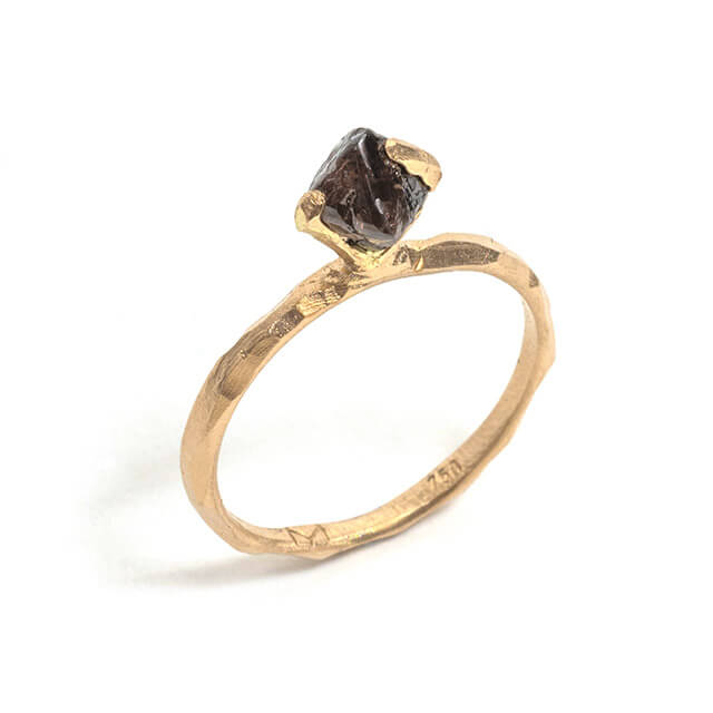 Tessa Blazey |  Australian rough diamond & 18ct yellow gold | | Unique handmade engagement ring | Melbourne | bespoke ring