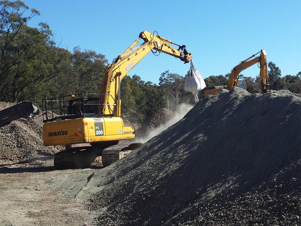 recycling excavators