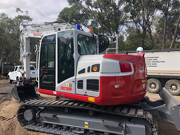 Rick Davis Contracting Compactor Hire Sydney 16 Tonne TB215OR Excavator