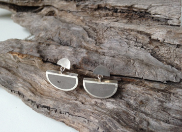 Concrete and silver studs by Sarah Wallace.